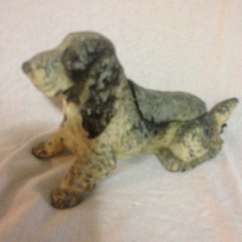 Hound Dog Metal Ashtray with built in flint lighter