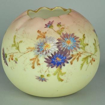 Mt. Washington Crown Milano Pseudo Burmese Victorian ERA Rose Bowl - Art Glass