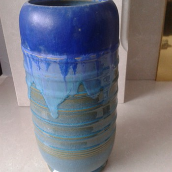 Blue/Torquoise Drip Glazed Vase ? - Art Pottery