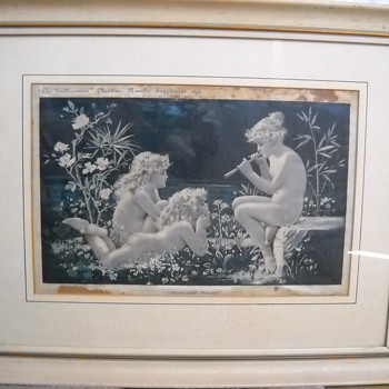 "1898 Print ""Moonlight Melody"""