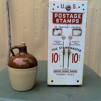 Stamp Machine and Little Brown Jug