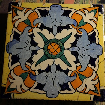 Large Majolica Tile from Spain - Art Pottery