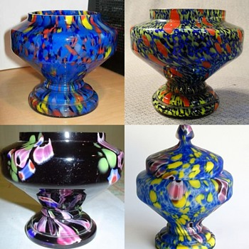 Czech Glass Mysteries - What is it? A jar, a bowl, a box, a dish or .....? - Art Glass