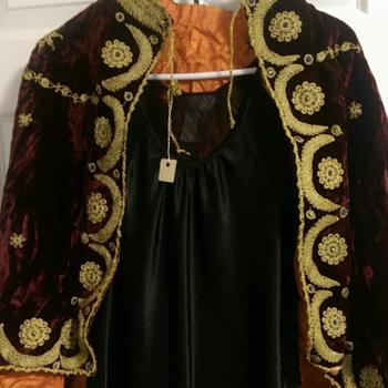 Palestinian wedding/opera cape circa 1900-1920 - Victorian Era