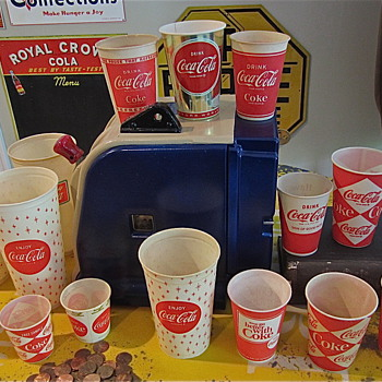 Coca Cola 1940s to 1970s variation cups from TGBWC  - Advertising
