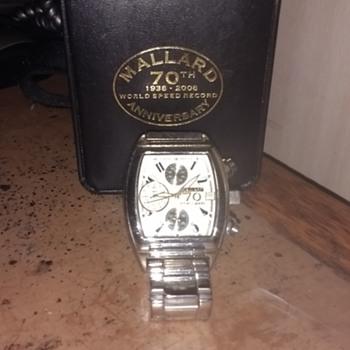 Mallard (the Steam Engine) 70th Anniversary of the World Speed Record 1938-2008 presentation wrist Watch