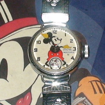 THE INGERSOLL MICKEY MOUSE CHICAGO WORLD'S FAIR 1933 #1 WATCH - Wristwatches
