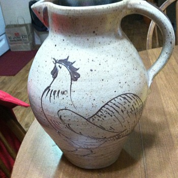 Rooster pitcher - Art Pottery