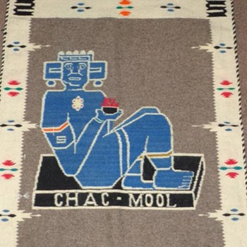 Chac-Mool wall tapestry - Rugs and Textiles