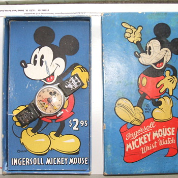 1935-36 Mickey Mouse Watch in Box - Wristwatches