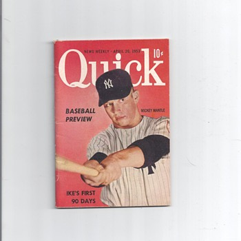 QUICK MAGAZINE OF MICKEY MANTLE APRIL 20, 1953 - Baseball