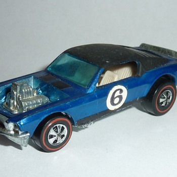 "Hot Wheels ""Boss Hoss"" Blue with Black Roof   - Model Cars"