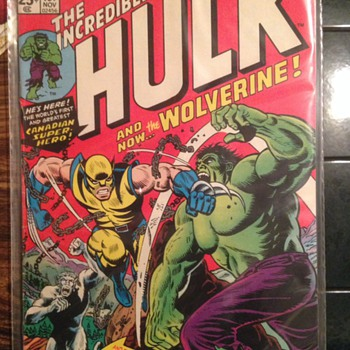 Comic book  Found in box, #181 marvel Comics, Wolverine first appearance !
