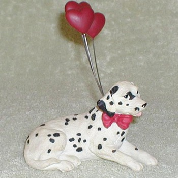 Dalmatian with Heart Balloons Figurine