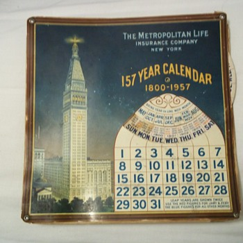 157 Year Calendar 1800 - 1957 - Advertising