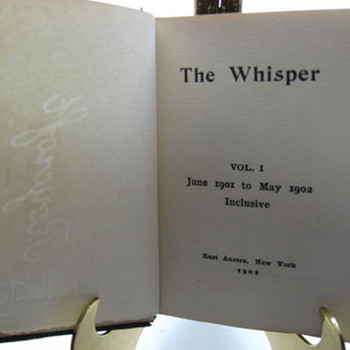 The Whisper ...Master bookbinder Louis H Kinder of Roycrofts.....