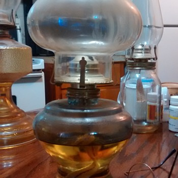 my old vintage lovely oil kerosene lamps - Lamps