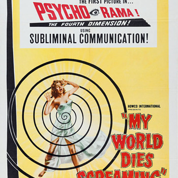 "SUBLIMINAL SHOCKER--""MY WORLD DIES SCREAMING""1958..Did They Brainwash For An Instant?? - Movies"