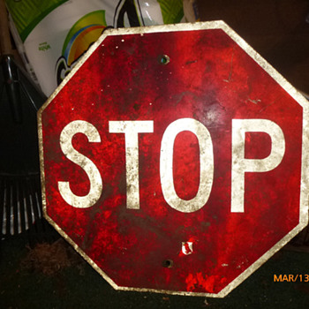 Found a STOP sign in the woods...
