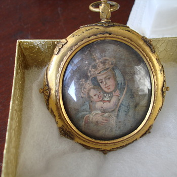 Antique Portrait Miniature with Reliquary - Fine Jewelry