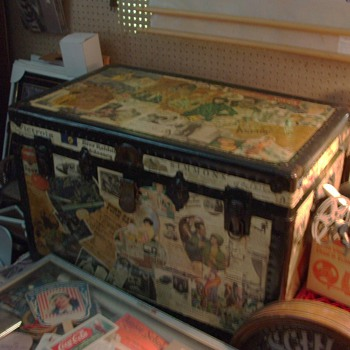 just a cheap trunk, but with some great decoupage on it  - Furniture