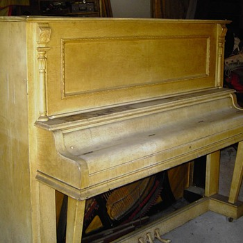 1902 Morris-Feild upright piano - Music Memorabilia