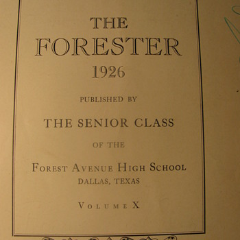 1926 School Annual - Forrester Avenue H.S. Dallas,Tex. - Books