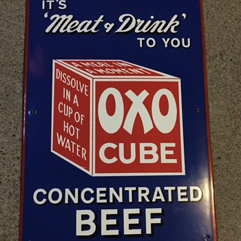 OXO concentrated beef sign