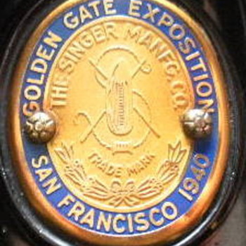 """Golden Gate Exposition - San Francisco 1940""  Featherweight 221 - Sewing"