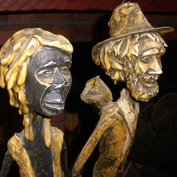 "Signed ""PECOWE"" art statues"