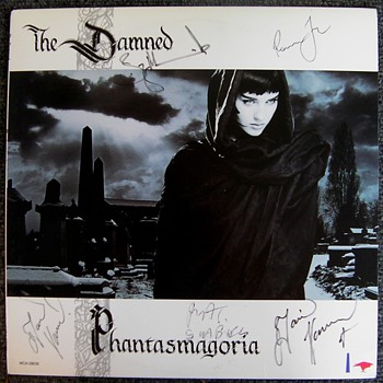The Damned boots and autographed LP