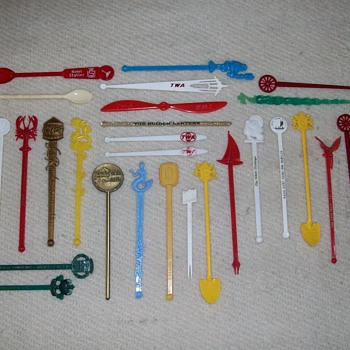 Various Coffee Stirrers From Various Places - Advertising