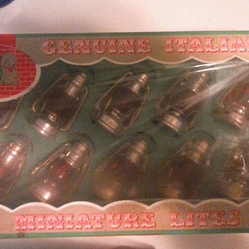 Santa's Workshop; Italian made lantern Christmas Lights - Christmas