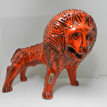 Awesome ROSENTHAL NETTER Mid Century Italian Art Pottery Lion - Art Pottery