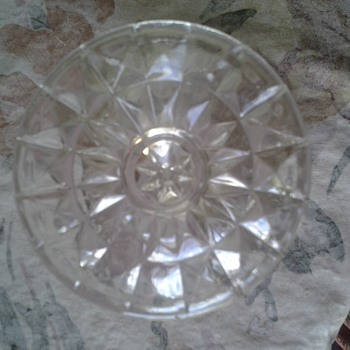 diamond pattern mint dish