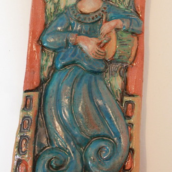 POTTERY ANGEL PLAQUES - Art Pottery