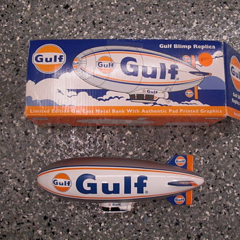 Gulf oil blimp bank - Advertising
