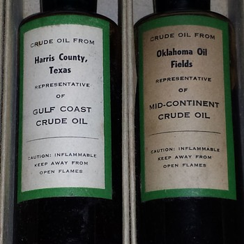 Antique Crude Oil Bottles