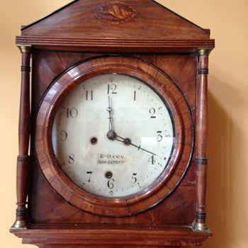 MYSTERY: E. Davy Howestoff - Grandfather clock - Allegedly from 1700's - Clocks