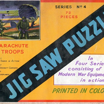 HELP - Info required - British World War Jig Saws in sealed envelopes - Games