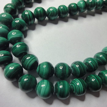 Malachite long (60 cm) necklace - Fine Jewelry