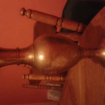 brass vase teo piece