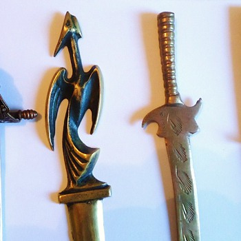 Letter openers $11  + shipping, Napoleon is not real coin but is Christofle! Bird id Israel! - Office