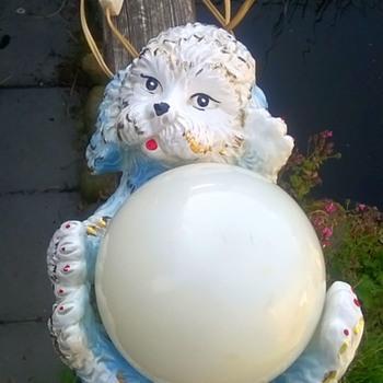 Kitschy Poodle Table Light Belgian Flea Market Find 3 Bucks - Lamps