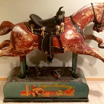 1953 Royal Mustang Riding Horse - Coin Operated