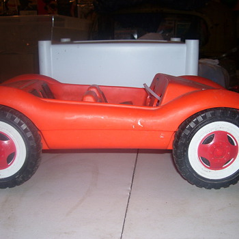 "big plastic toy from the 60""s made in west germany on bottom  - Model Cars"