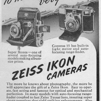 1951 - Zeiss-Ikon Cameras Advertisement - Advertising