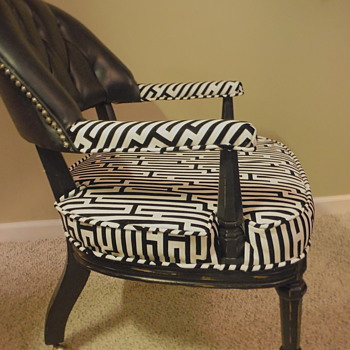 My Latest Old Chair Re-do: Before & After - Furniture