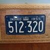 License Plate 1955