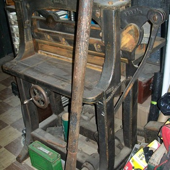 1800's paper cutter - Office